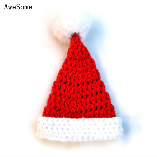 Handmade Knitted Crochet Christmas Baby Santa Hat cbd1f6b11fc