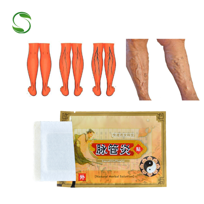 10 pcs Spider Veins Traitement des varices Plâtre Veines variqueuses Cure Patch Vascularite Solution Naturelle à base de plantes Patchs