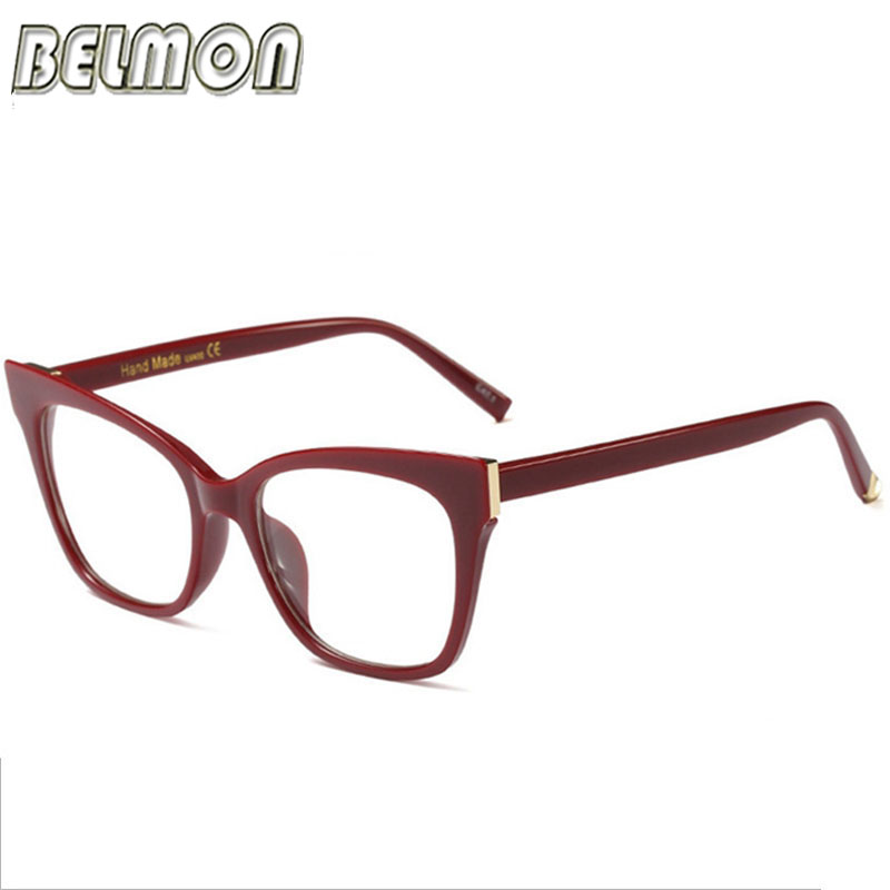 Belmon Spectacles Frame Women Computer Optical Prescription Eye Glasses Frame Eyewear Transparent Clear Lens Eyeglasses 97564 in Women 39 s Eyewear Frames from Apparel Accessories