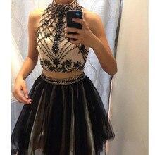 2 Stück Prom Kleider Online Vestidos Curtos Kristall Mini Cocktailkleider 2016 Abendgesellschaft für Verkauf Vestido De Festa