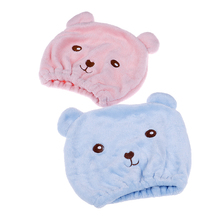Hair-Wrapped-Towels Bath-Accessories Blue Shower-Cap Pink Dry 1pcs Quickly-Dry-Hair-Cap