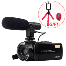 Promo offer Full HD 1080P 30FPS Wifi Camcorder Portable Digital Video Camera with External Microphone 3.0inch LCD Touchscreen Video Recorder