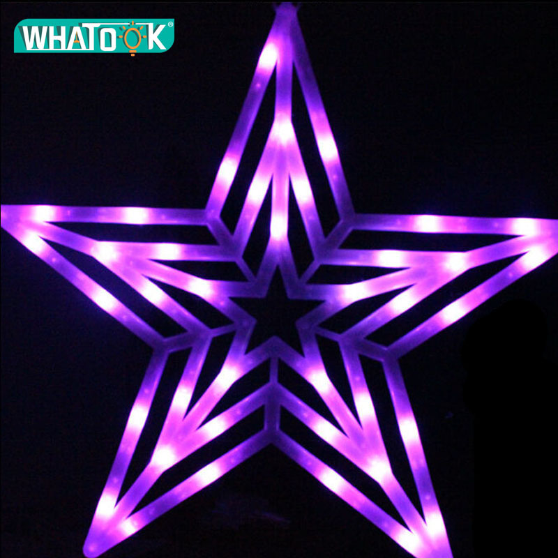 50CM Star LED Pendant Lights Christmas Waterproof Outdoor Indoor Advertising Project Bracket Lamp Holiday Garland Light Decor