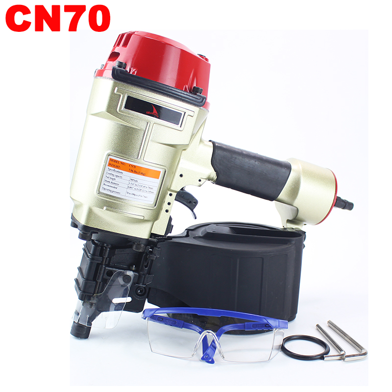 YOUSAILING Quality CN70 Pneumatic Coil Roofing Nailer Tool Air Nailing Gun Coil Nailer Pneumatic Nailer Woodworking Tool