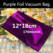 Wholesale 100pcs 12cmx18cm 170micron 3 Sides Purple Heat Sealed Foil Vacuum Bag Vacuum Foil Powder Bag