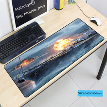 Mairuige 900*400*4MM World of Warships Gaming Large Stitched Edge Mouse Pad PC Computer Notebook Mousepad Speed Rubber Mice Mat stitched edge rubber cs go large gaming mouse pad pc computer laptop mousepad for apple logo style print gamer speed mice mat