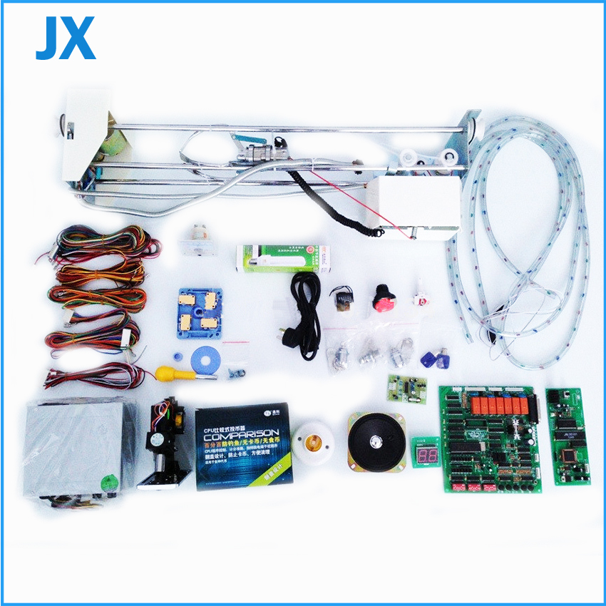 DIY custom crane machine kit parts Gantry with claw Taiwan main board wire harness speaker coin selector acceptor meter lock