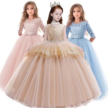 100% Zufriedenheitsgarantie Rabattgutschein großer Rabatt Kinder Kleider Für Mädchen Hochzeit Kleid Abend Prinzessin ...