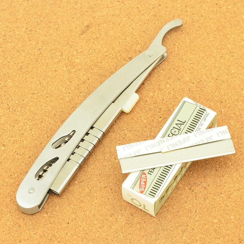 Meisha Safety Hair Cutting Razors Steel Shaving Hair 10Blade Tools Folding Shaving Knife Hair Care Blades Removal Razors HC0003 in Razor from Beauty Health