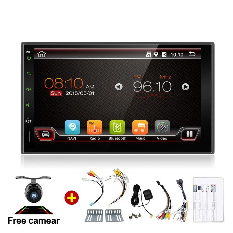 imágenes para Electrónica del coche de 2 Din Sin Reproductor de DVD de Vídeo Estéreo Android GPS Auto RDS 7 Pulgadas USB Para Cámara Universal Nissan Envío Libre mapa