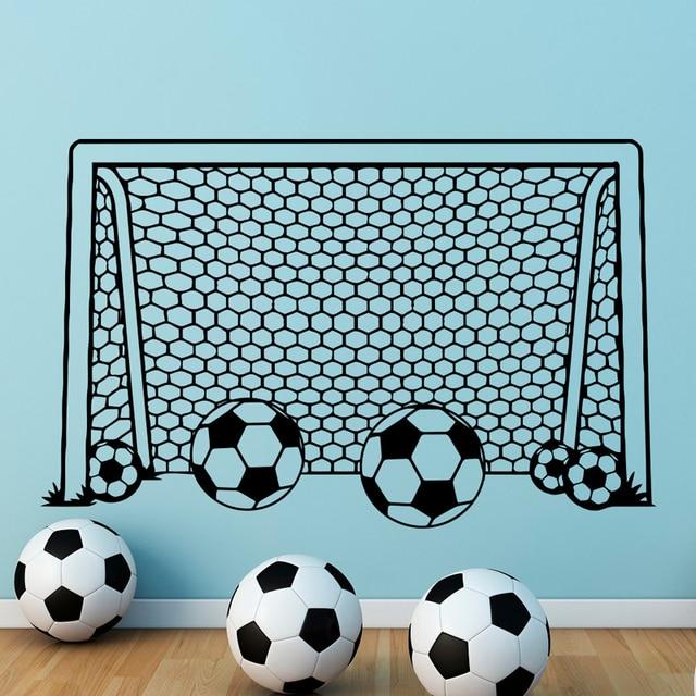 Football Goal Net Wall Decals Stickers Boy Soccer Vinyl Sports ...