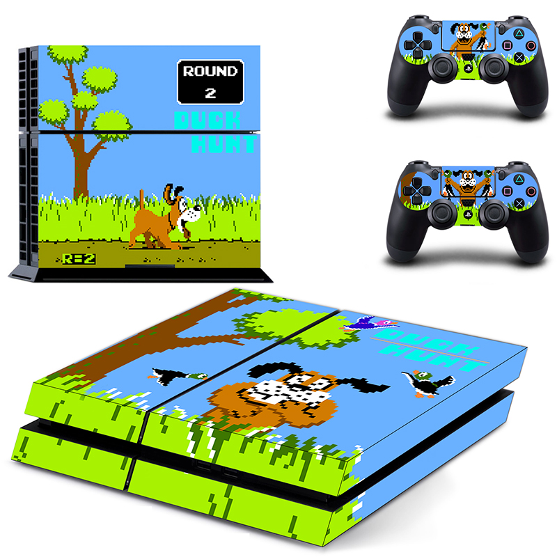 OSTSTICKER Pro Gamer Cartoon Dog Waterproof Skin For SONY Playstation 4 Decal Stickers For PS 4 Cover