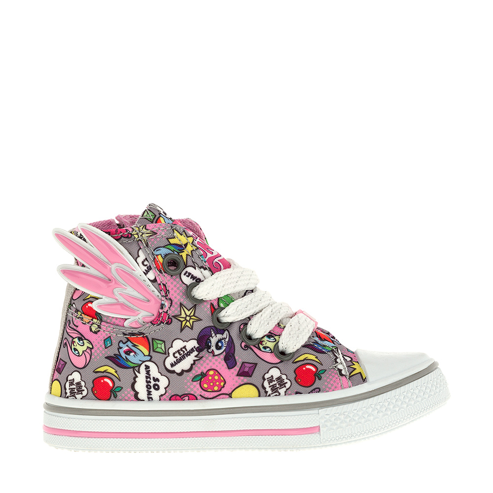 [Available with 10 11] Sneakers with zipper My Little Pony zipper side lace up pu sneakers