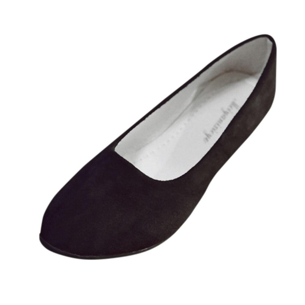 #50 neu Büro Karriere Stil Mode Frauen Damen Spitz Slip Auf Schuhe Sandalen Casual Ballerina Schuhe Größe Reife