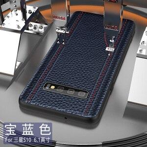 Image 5 - Étui pour samsung de luxe en cuir véritable S10 PLUS S10 S10E S10Lite