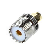 UHF SO-239 F to SMA M Female/Male Straight Coaxial Coupling Adapter Plug