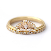 Marquise Moissanite Lab Diamond Solitaire Wedding Ring Set Engagement Band Solid 14K Yellow Gold For Women