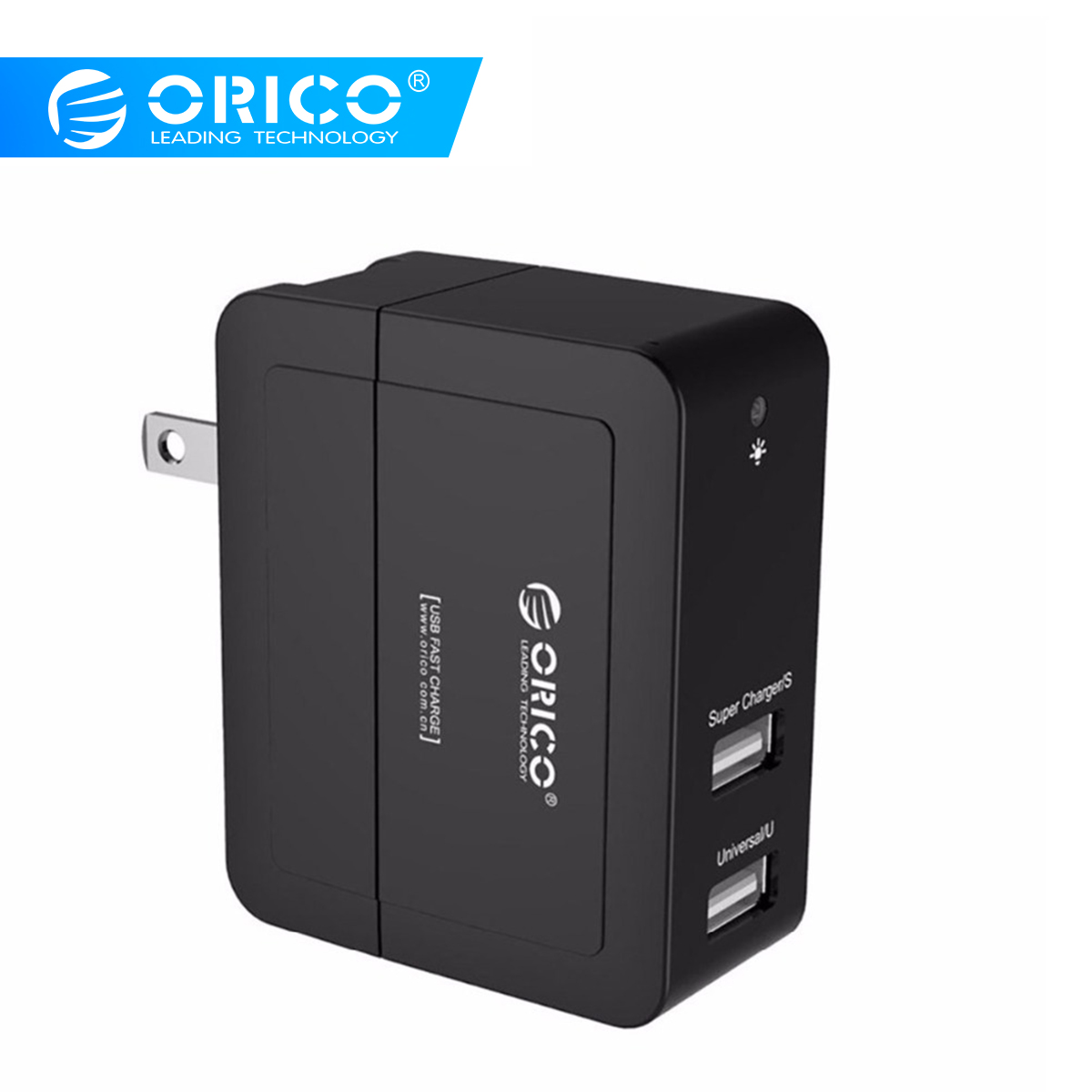 ORICO 5V2.4A 5V1.5A USB Charger US Plug Travel Wall Charger Adapter 12W Portable Smart Mobile Phone Charger  Black White electronics