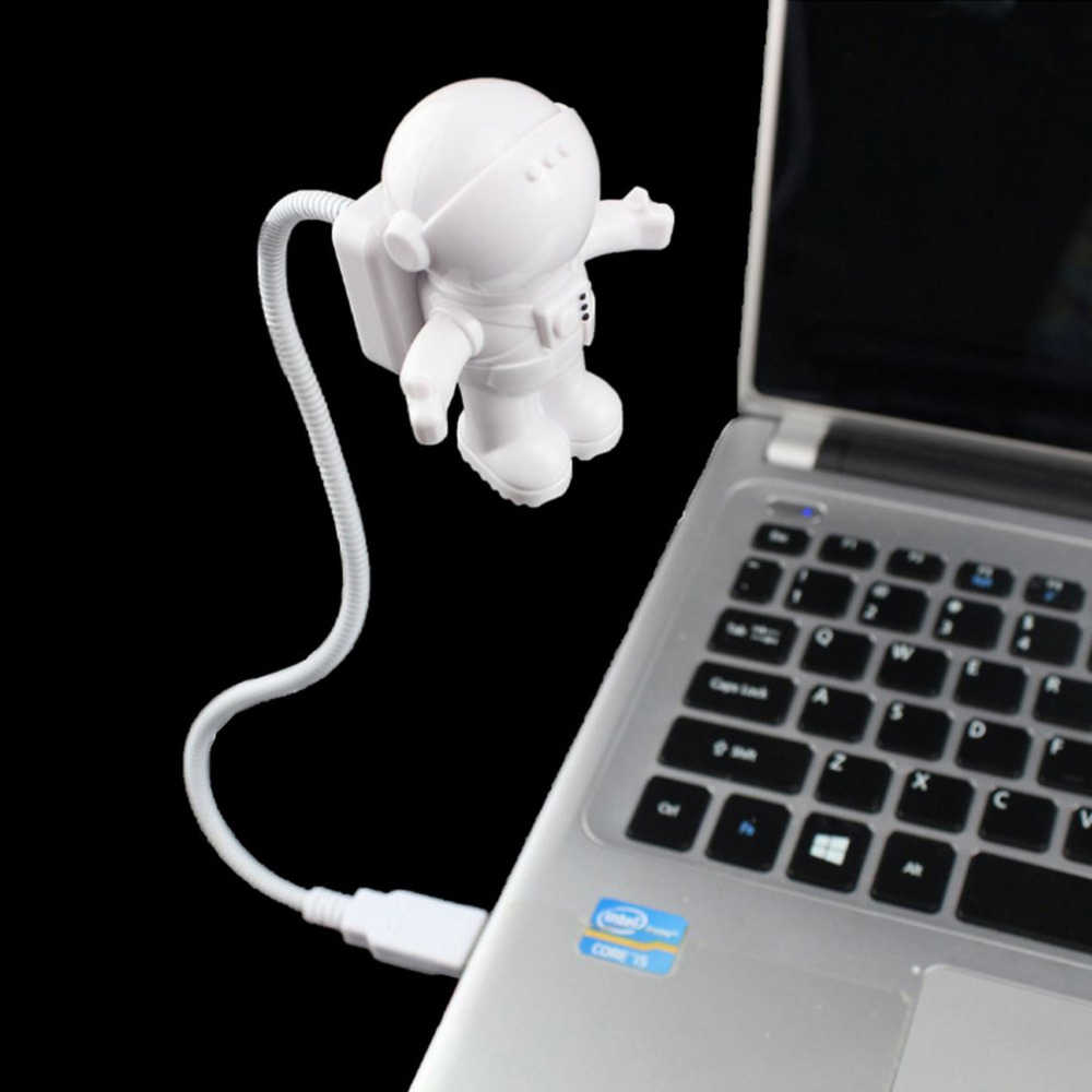 spaceman night light astronaut usb led adjustable Cute Nightlight Children Novelty Book Reading Bulb Clever 3D Lamp dropshipping