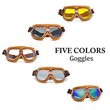 Motorcycle Goggles Snowboard Helmet Racing Scooter Glasses Aviator Ski Aviator Pilot Cruiser Off Road Motocross Goggles 5Colors