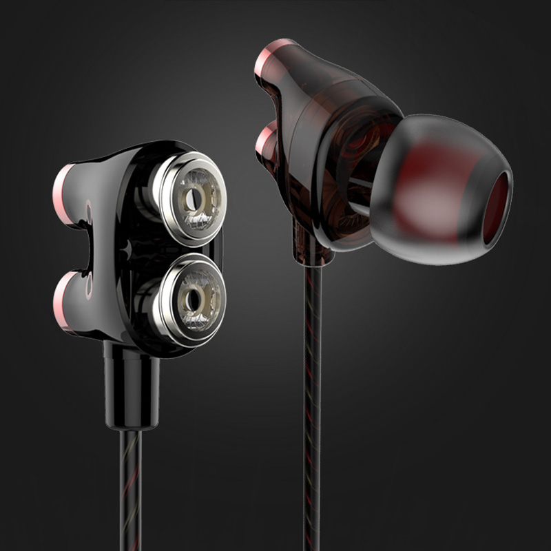 YTOM in ear earphone for phone dual driver clear bass Sport headphones 3.5mm Jack Headset Hands Free with Mic Music hifi earbuds super bass earphone hifi stereo sound 3 5mm earbuds in ear earphones with mic sport running headset for phone