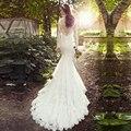 Новые Стили Старинные Низкие Назад Свадебные Платья Китай Западная Длинные Рукава Sexy Back Кружева Свадебное Платье 2017
