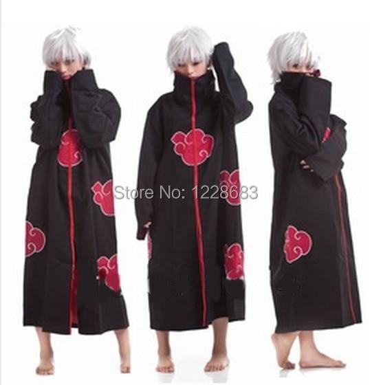 Cos Cosplay Naruto Costume Akatsuki Cloak Orochimaru Uchiha Madara Sasuke Itachi Pein Clothes Costume Cloak Cape Wind Dust Coat