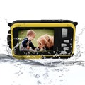 "FHD 1080P 24MP Dual Screen 2.7""/1.8"" Waterproof Digital Camera Cam +US Adapter"