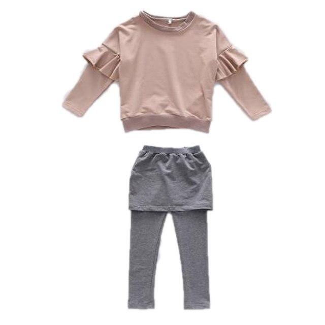 d4f103c5a8a7be Manicotto della farfalla Vetement Enfant Fille Ensemble Vetement Ragazze  Dei Vestiti Dei Bambini Veste Indumento Nuovo