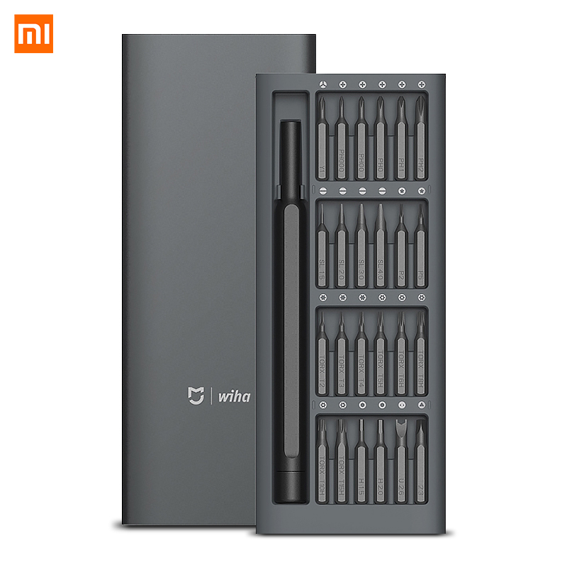 Original Xiaomi Mijia Wiha 24 in 1 Präzision Schraubendreher Kit 60HRC Magnetische Bits Xiaomi Home Kit Reparatur Werkzeuge Xiomi Xaomi