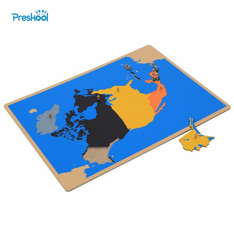 Montessori jouet amérique du nord carte apprentissage éducation petite enfance enfants Brinquedos Juguetes