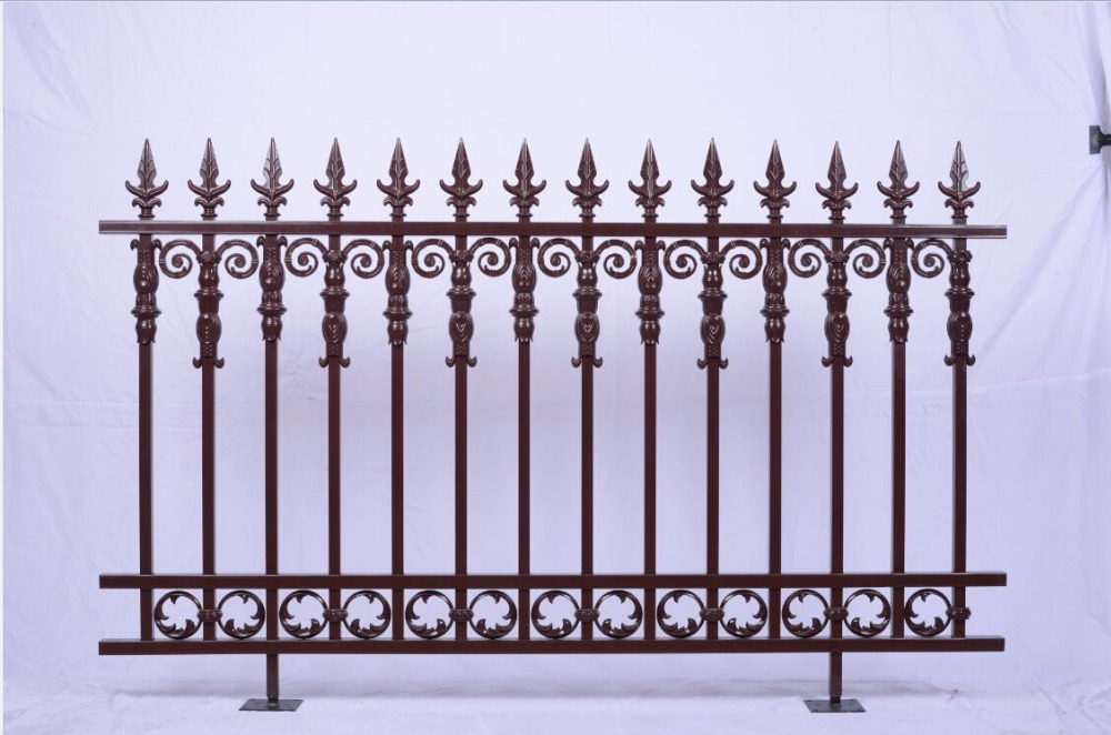 New Style Powder Coated Metal Aluminum Fence Designs Hc-af10