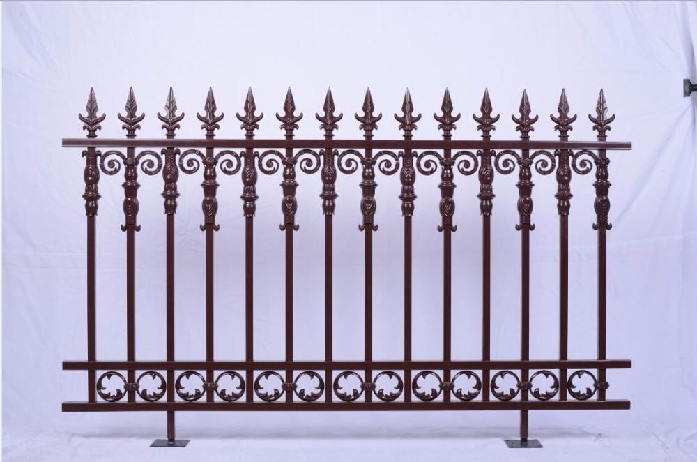 New Style Powder Coated Metal Aluminum Fence Designs Hc-af10