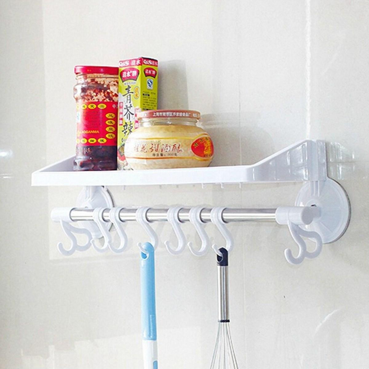 Plastic Rack Storage Bathroom Shower Shelf Makeup Towel Sponge ...