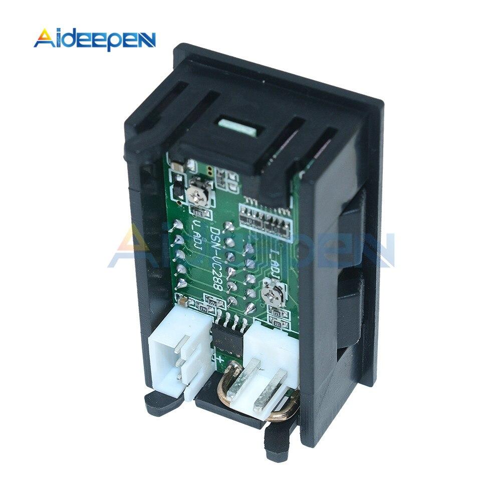 """Mini Digital Voltmeter Ammeter DC 100V 10A Voltmeter Current Meter Tester 0.28"""" 0.28 inch Blue+Red LED Amp Dual LED Display 15"""