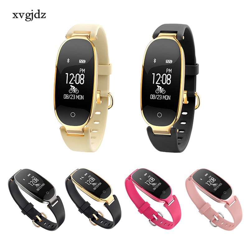 xvgjdz S3 Bluetooth Waterproof Smart Watch Fashion Women Ladies Heart Rate Monitor Fitness Tracker Smartwatch for Android IOS leegoal bluetooth smart watch heart rate monitor reminder passometer sleep fitness tracker wrist smartwatch for ios android