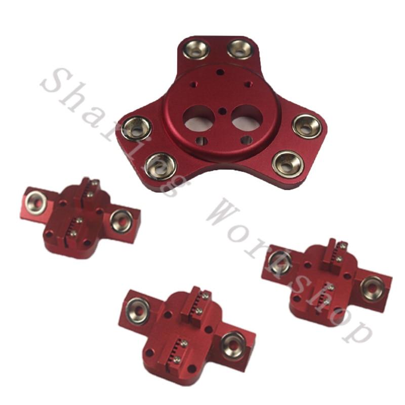 4pcs Reprap Delta kossel k800/mini magnetic carriage kit +effector for Chimera/Cyclops hot end full metal for DIY 3D printer