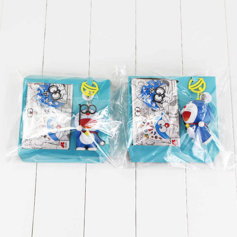 2 Styles New Kids Cartoon TV Doraemon Action Figure Toys Pendanat Keychian Toys Figures 7CM