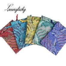 50 шт/лот 10x14 см шелковые парчи на шнурке ювелирные сумки
