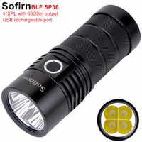 Sofirn BLF SP36 4 * XPL2 6000LM puissant lampe de poche LED USB Rechargeable 18650 opération Multiple Super lumineux torche Narsilm V1.2