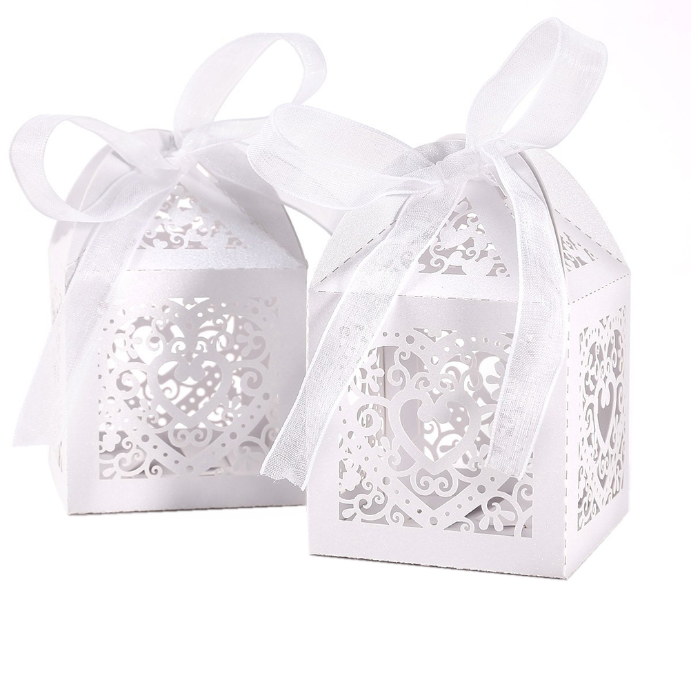 50pcs Love Heart Party Wedding Hollow Carriage Baby Shower Favors ...