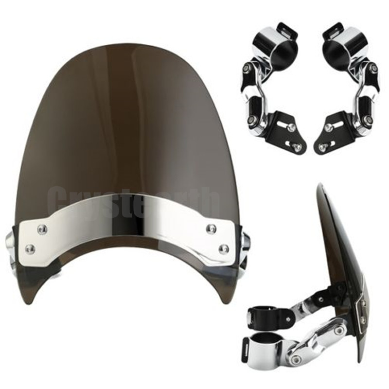 3 Colors Motorcycle 39mm to 41mm Clamp Windscreen Windshield For Harley Dyna Softail Sportster 883 1200 XL Custom Cruisers Bikes mtsooning timing cover and 1 derby cover for harley davidson xlh 883 sportster 1986 2004 xl 883 sportster custom 1998 2008 883l