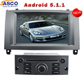 """Jasco 7 """"5.1.1 In Dash HD 2 Din Android Carro DVD Player GPS RDS Rádio de navegação para Peugeot 407 Auto 3G Wi-fi de Rádio de Áudio fone de ouvido estéreo"""