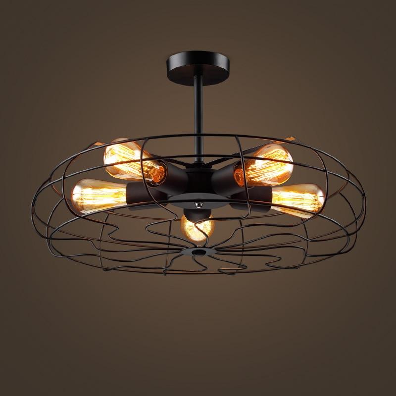 Retro industry wind pendant lamps retro Edison fan Cafe Restaurant aisle clothing store Cafe bedroom Iron pendant lights