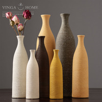 Nordic Dried Flower Ceramic Vase Simple Desktop Art Decoration Ornaments Living Room Table Flower Decoration Container