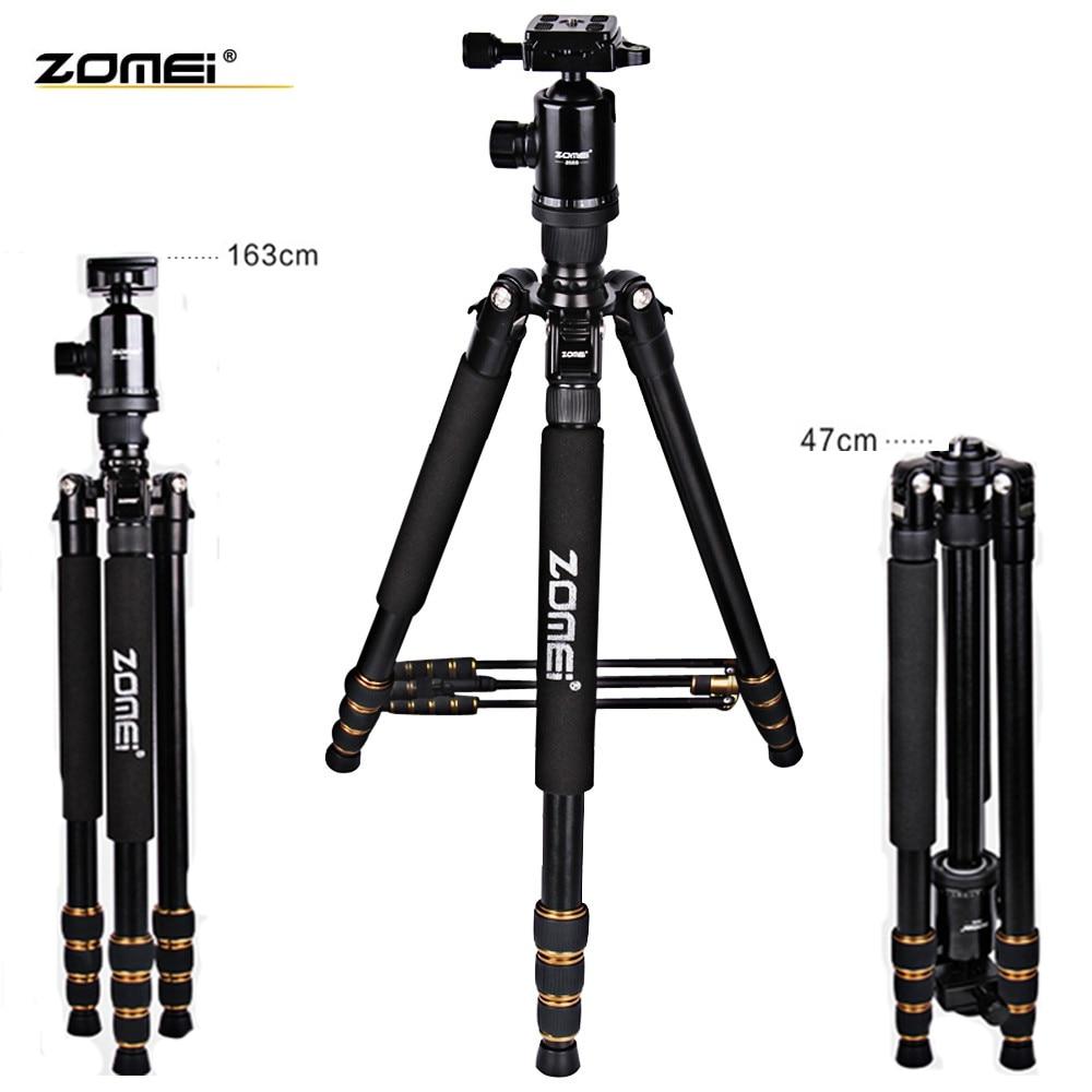 New zonei Z688 professional aluminum tripod monopod + ball head for DSLR camera Portable REFLEX Camera Holder better than Q666 4pcs new for ball uff bes m18mg noc80b s04g