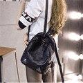 2016 mulheres mochila de couro PU pequenos sacos de escola para adolescentes meninas moda serpentina mulheres mochilas zíper bolsa feminina, WH0147