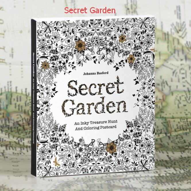 30 The English Version Of The Secret Garden Large Color Painted Postcard Book Painting Graffiti Coloring This Reduced Pressure