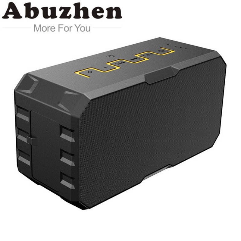 Abuzhen Outdoor Waterproof Bluetooth Speaker with Power Bank Stereo Surround Sound Altavoz Loudspeakers Waterproof Upgraded