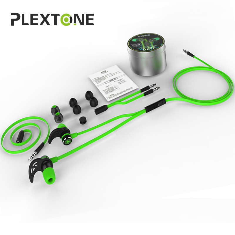 PLEXTONE G20 Hammering Gaming Earphone Noise-Cancelling Double Bass In-Ear Headset Headphone With Mic Magnet Design For Iphone X plextone x46m in ear earphone removable metal 3 5mm stereo bass earbuds gaming headset with mic for computer phone iphone sport
